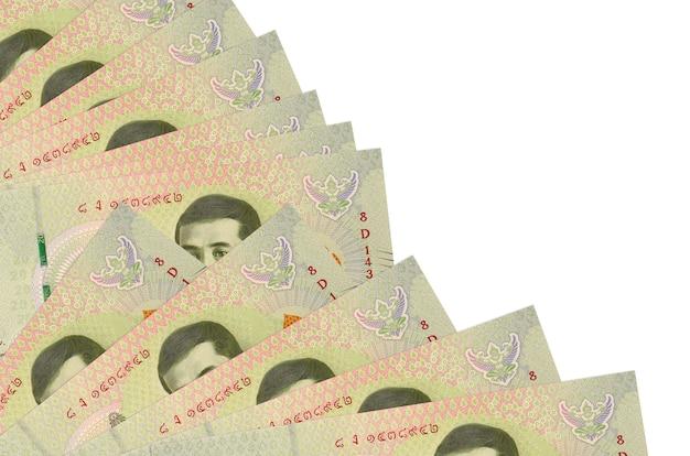 Thaise baht-rekeningen liggen geïsoleerd op wit