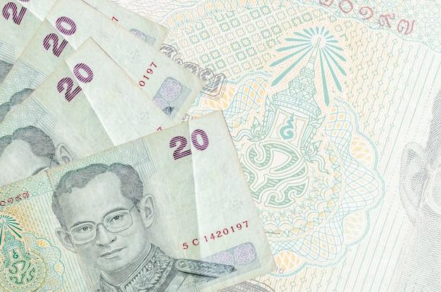 Thaise baht-rekeningen op een lichte achtergrond