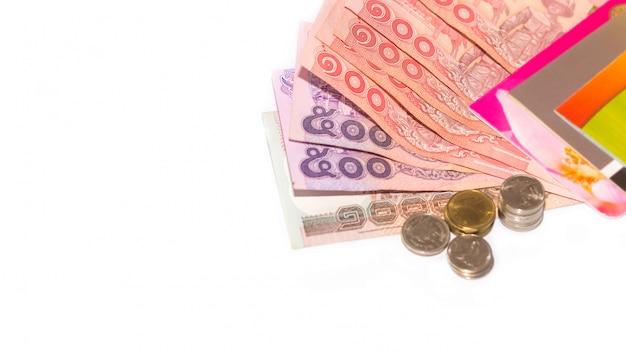 Thaise bankbiljetten en munten