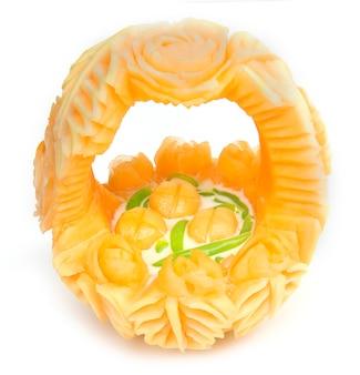 Thaise dessert lod chong rijstnoedels pandan met kokosmelk