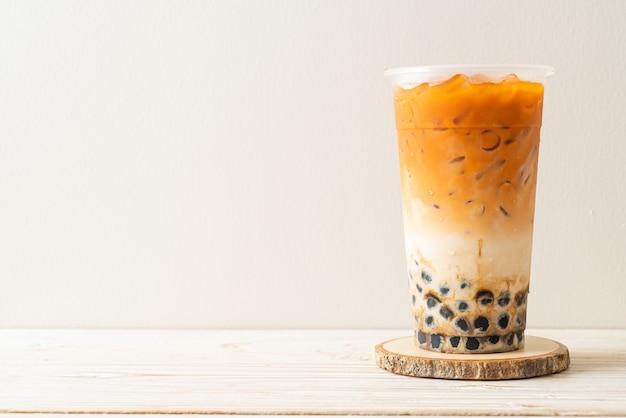 Thaise melkthee met bruine bubbelsuiker