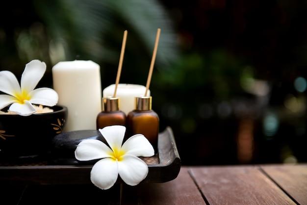 Thaise spa. massage spa-behandeling aroma voor gezond welzijn en ontspanning.