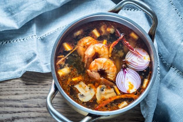 Thaise tom yum soep