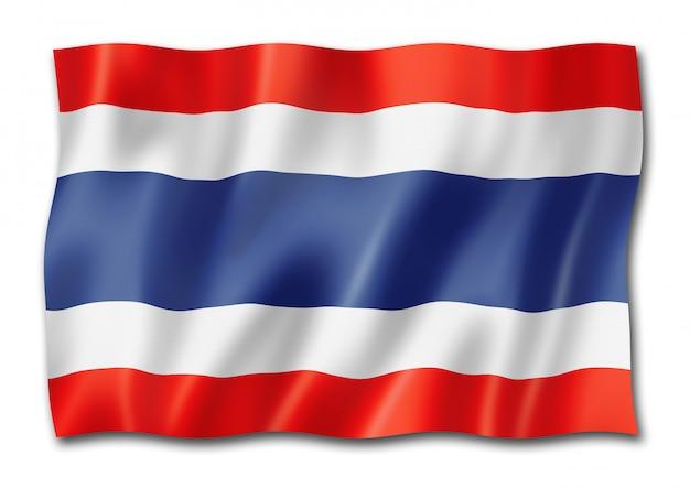 Thaise vlag geïsoleerd