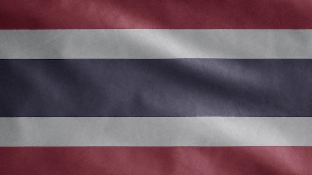 Thaise vlag wappert in de wind