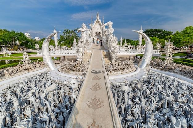 Thaise witte tempel, wat rong khun, provincie chiang rai, noordelijk thailand