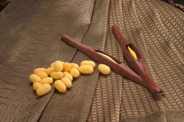 Thaise zijde en haspels
