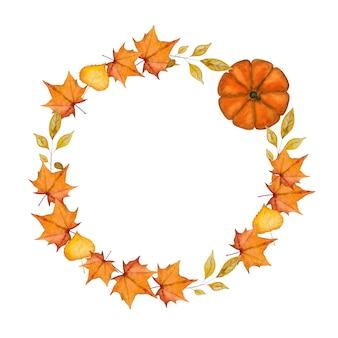 Thanksgiving krans frame cirkel