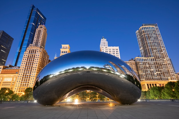 The cloud gate, chicago