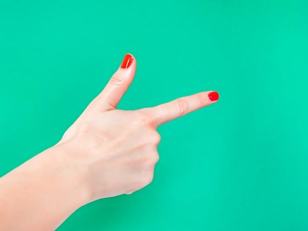 The finger gun handteken