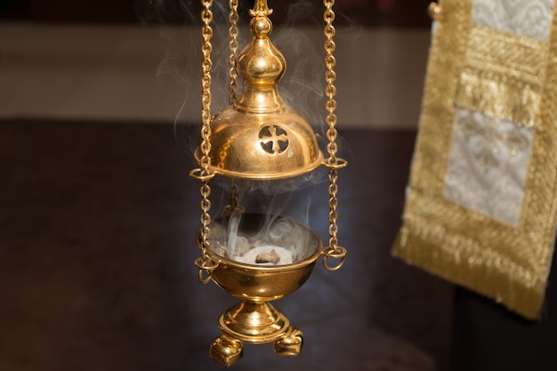The golden church censer
