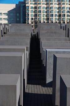 The holocaust memorial - gedenkteken voor de vermoorde joden van europa in berlijn, duitsland