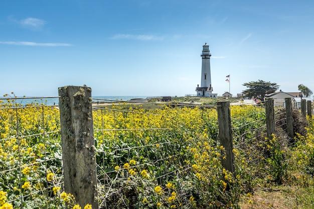 The pigeon point lighthouse aan de kust van californië