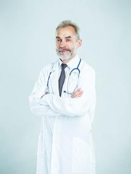 Therapeut met een stethoscoop