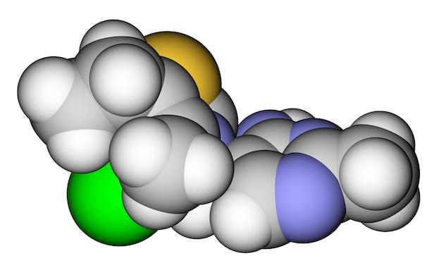 Thiamine vitamine bd moleculair model