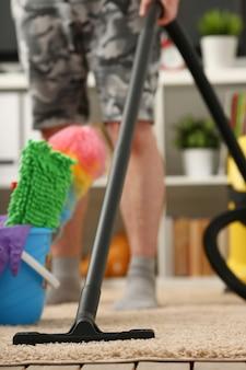 Thuiszorg voor tapijtstofzuiger