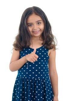 Thumbs up gelukkig meisje