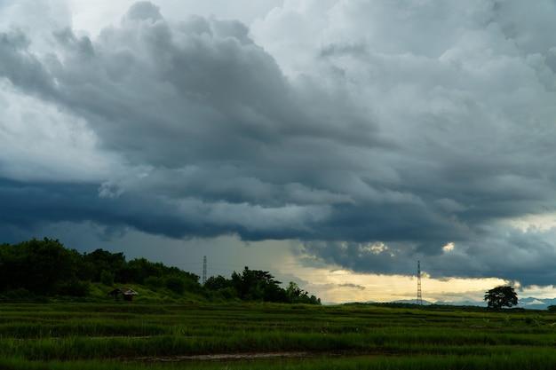 Thunder storm sky regenwolken