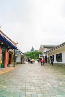 Tian tan buddha, ook bekend als de big buddha, is een groot bronzen standbeeld van een sakyamuni-boeddha en bevindt zich op het eiland ngong ping lantau in hong kong.