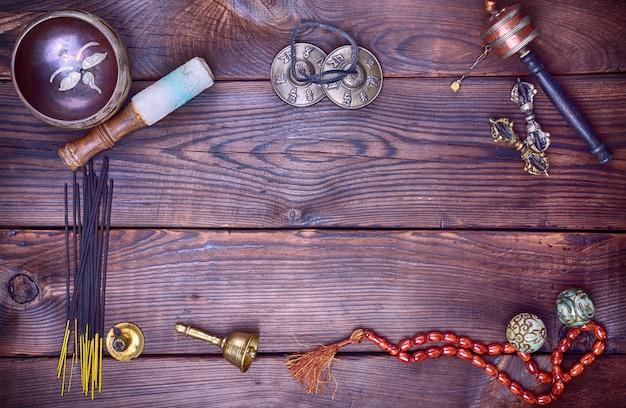 Tibetaanse religieuze muzikale onderwerpen voor meditatie