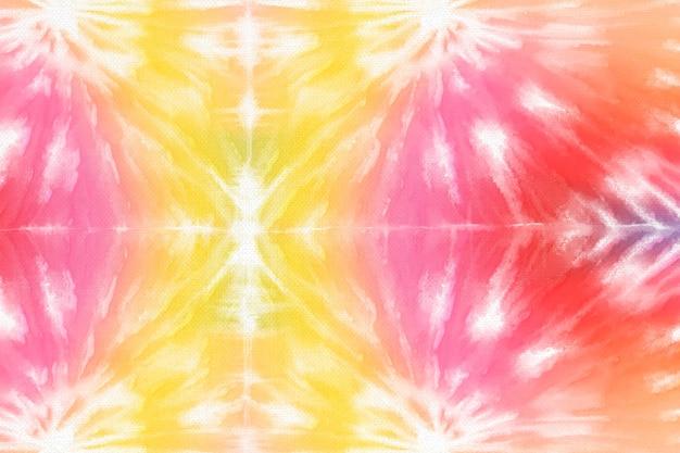 Tie dye achtergrond met kleurrijke aquarelverf