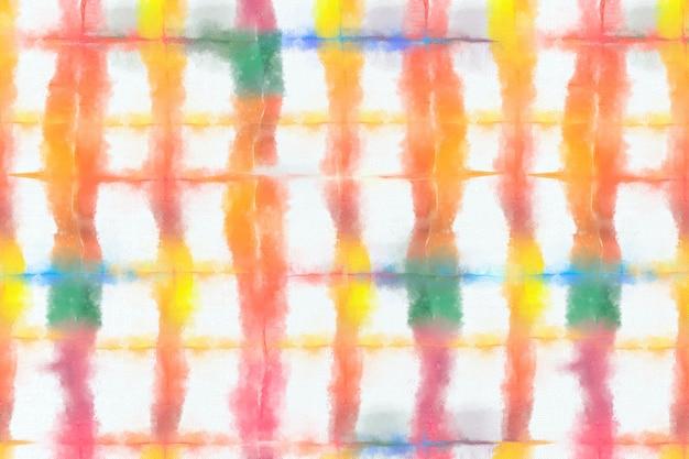 Tie dye naadloos patroon met kleurrijke aquarelverf