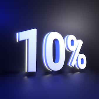 Tien procent nummerweergave
