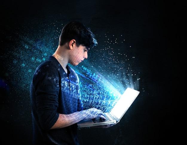 Tiener verslaafd aan internet