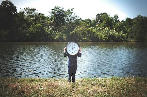 Tijd dringende wekker kans stipte concept