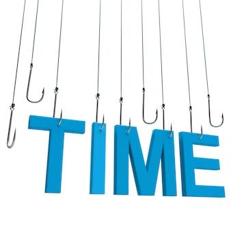 Tijd, hangende tekst