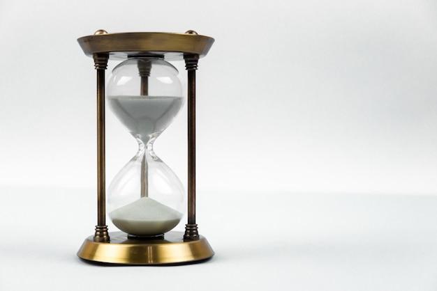 Tijd met zandloper liggen afgezwakt in warm
