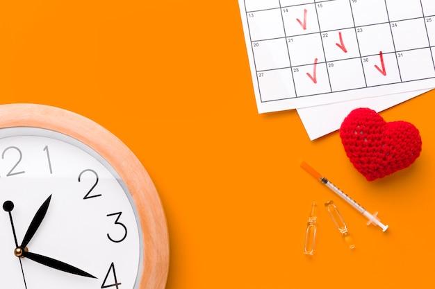 Tijd om pillen voor hart te nemen