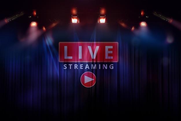 Tijd om te beginnen met spelen met online videomarketing naar live streaming-concept