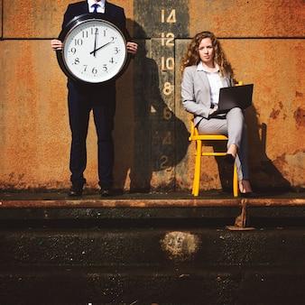 Tijd timing management plan organisatie concept