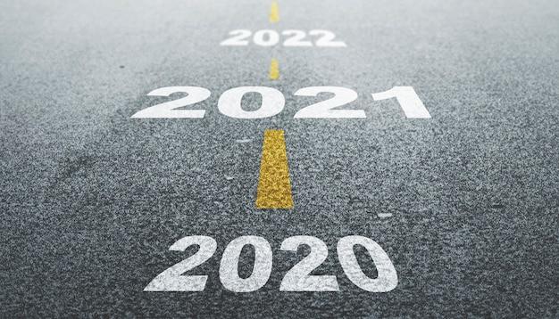 Tijd tot 2021. gelukkig nieuwjaar 2021
