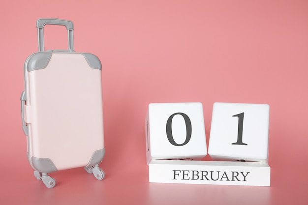 Tijd voor een wintervakantie of reizen, vakantiekalender voor 1 februari