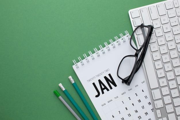 Tijdorganisatieconcept met kalender