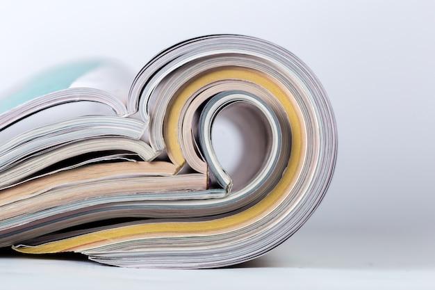 Tijdschrift dicht omhoog