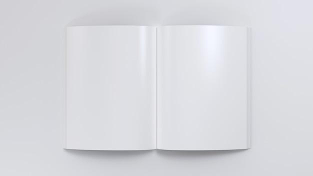 Tijdschrift duidelijk verspreiding mockup notitieblok schetsblok leeg sjabloon blanco papier notitie dagboek bovenaanzicht