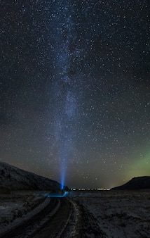 Time-lapse-fotografie van de sterrennacht