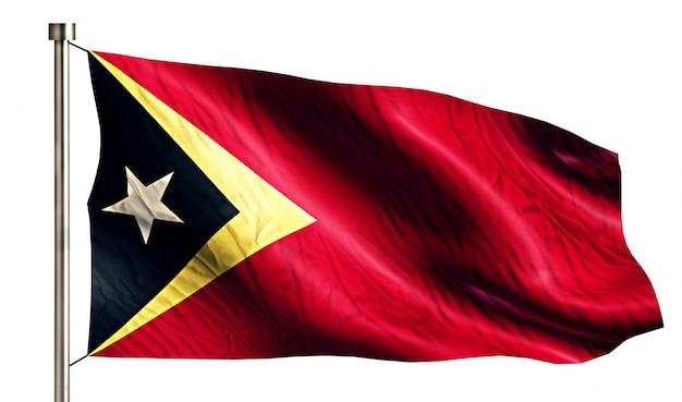 Timor leste nationale vlag geïsoleerde 3d witte achtergrond