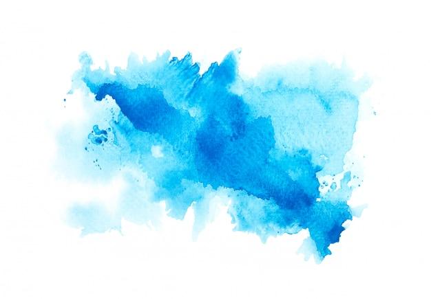 Tinten blauwe aquarel