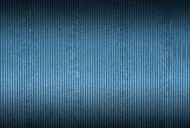 Tintextuur en patroonachtergrond. industriële en bouwhekwerk of metalen platen van blauw blik