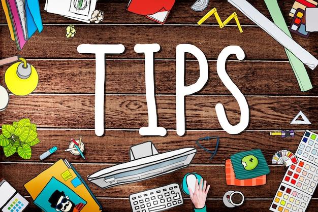 Tips servicewijziging restaurent server ober serveerster concept