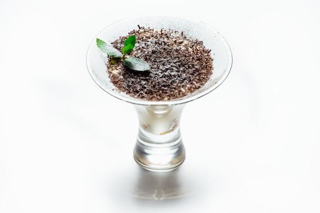Tiramisu in een glazen beker