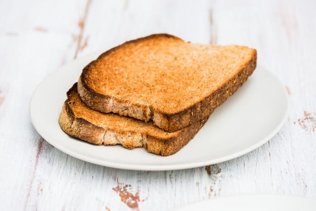 Toast van wholewheat bread