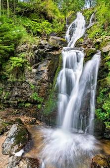 Todtnau-waterval in het zwarte woud-gebergte, een van de hoogste watervallen van duitsland