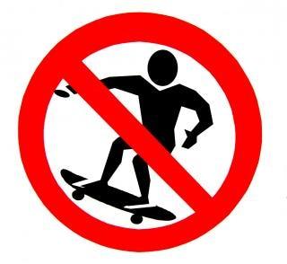 Toegestaan geen skateboards