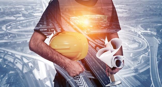 Toekomstige bouw constructie engineering project.