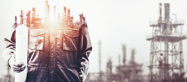 Toekomstige fabrieksinstallatie en energie-industrieconcept